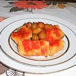 Baccalà in agliata con olive