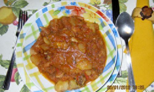 Stoccafisso in umido con patate