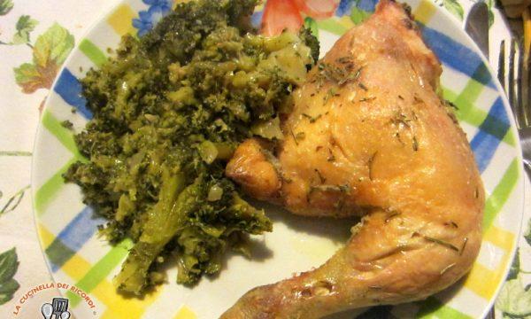 Pollo al Forno con Broccoletti