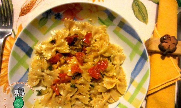 Farfalle Integrali con Pomodorini e Zucchine al sapore di aneto