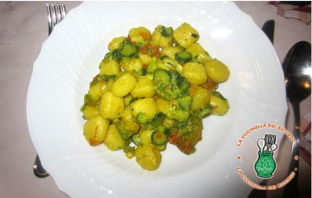 gnocchi con fiori di zucchina e zafferano 3