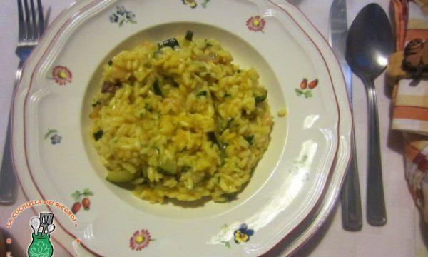 Risotto Zucchine, Gamberetti, Curry e Zafferano