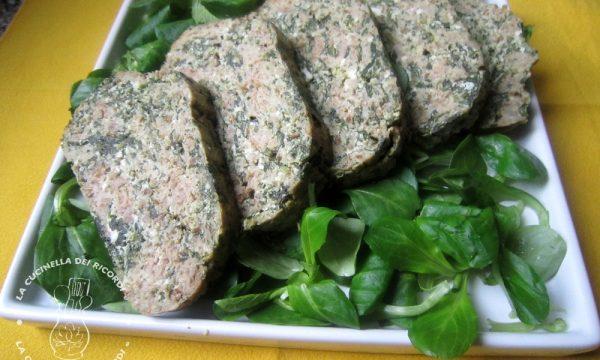Polpettone al cartoccio con  Carne, Ricotta e spinaci