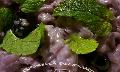 Risotto ai mirtilli con la menta-Come utilizzare la frutta in cucina