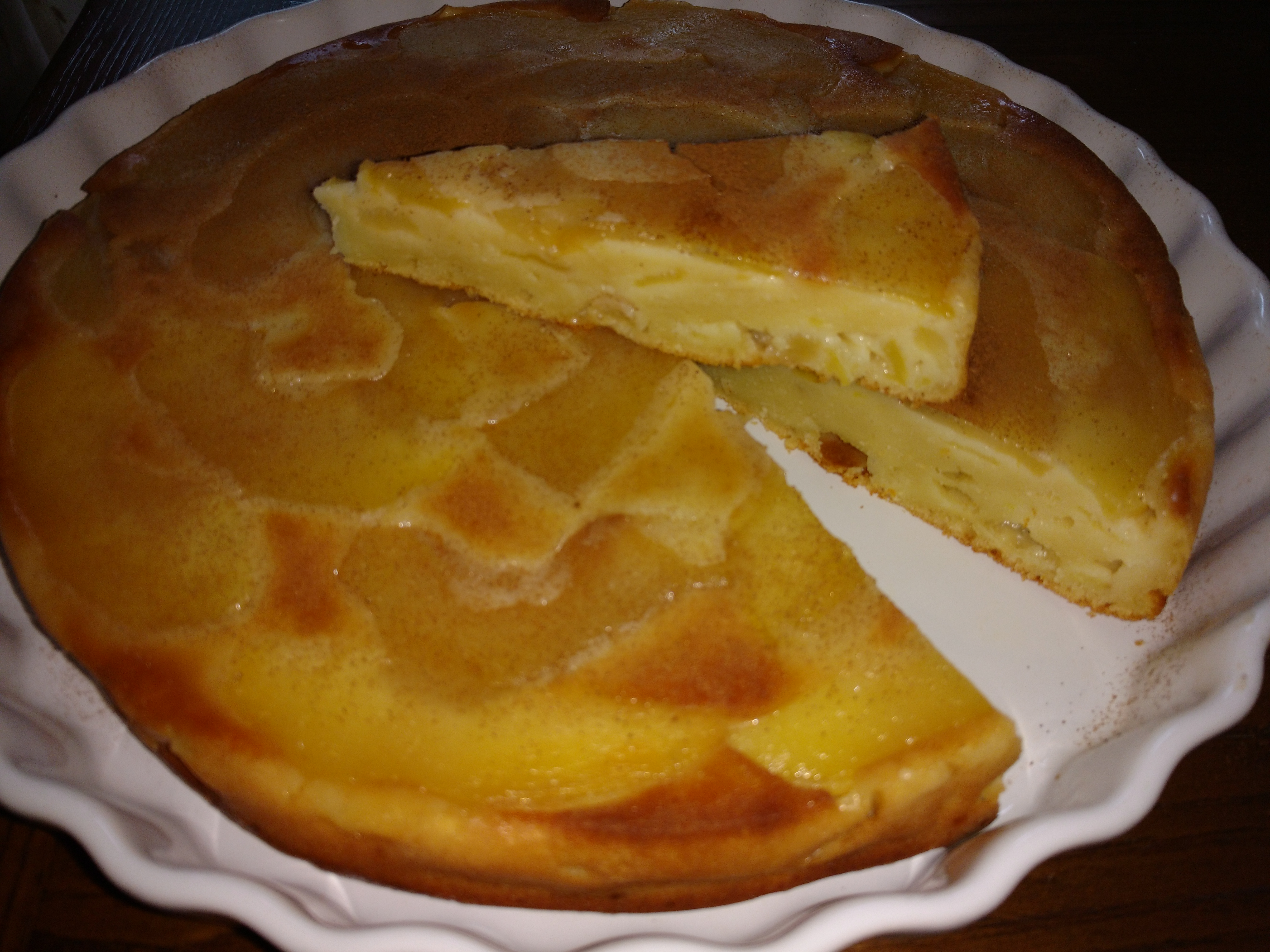 Torta rovesciata di ricotta e mele