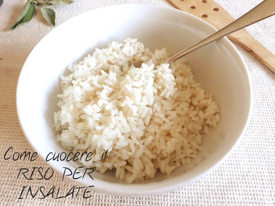 come cuocere il riso per insalate