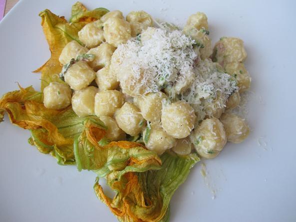 Gnocchi zucchine pancetta 8