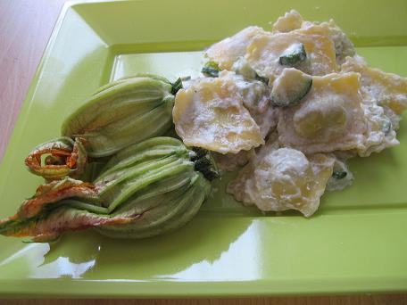 ravioli e zucchine