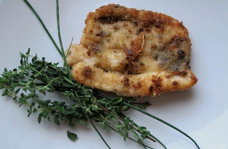 Pesce spatola con panatura aromatica