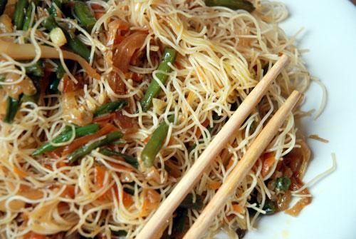 spaghetti di riso (noodles) con verdure - Cucinare Spaghetti Di Riso