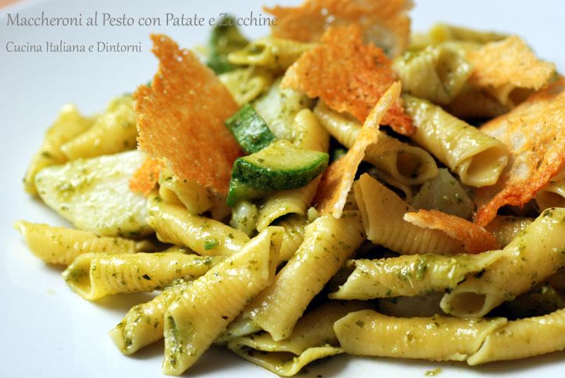 Maccheroni-pesto-zucchine-1