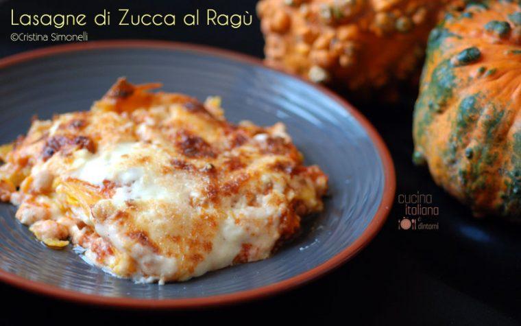 Lasagne di zucca al ragù