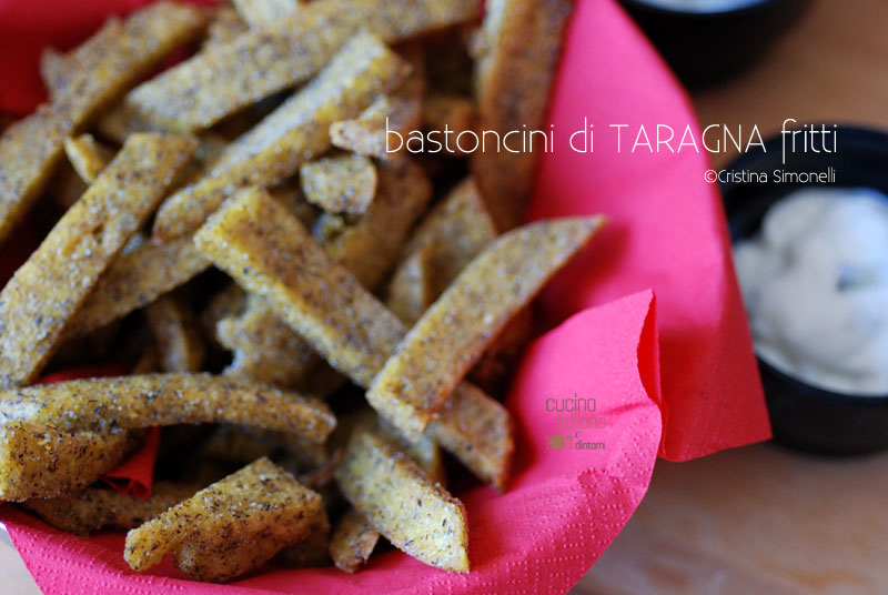 Bastoncini di taragna fritti