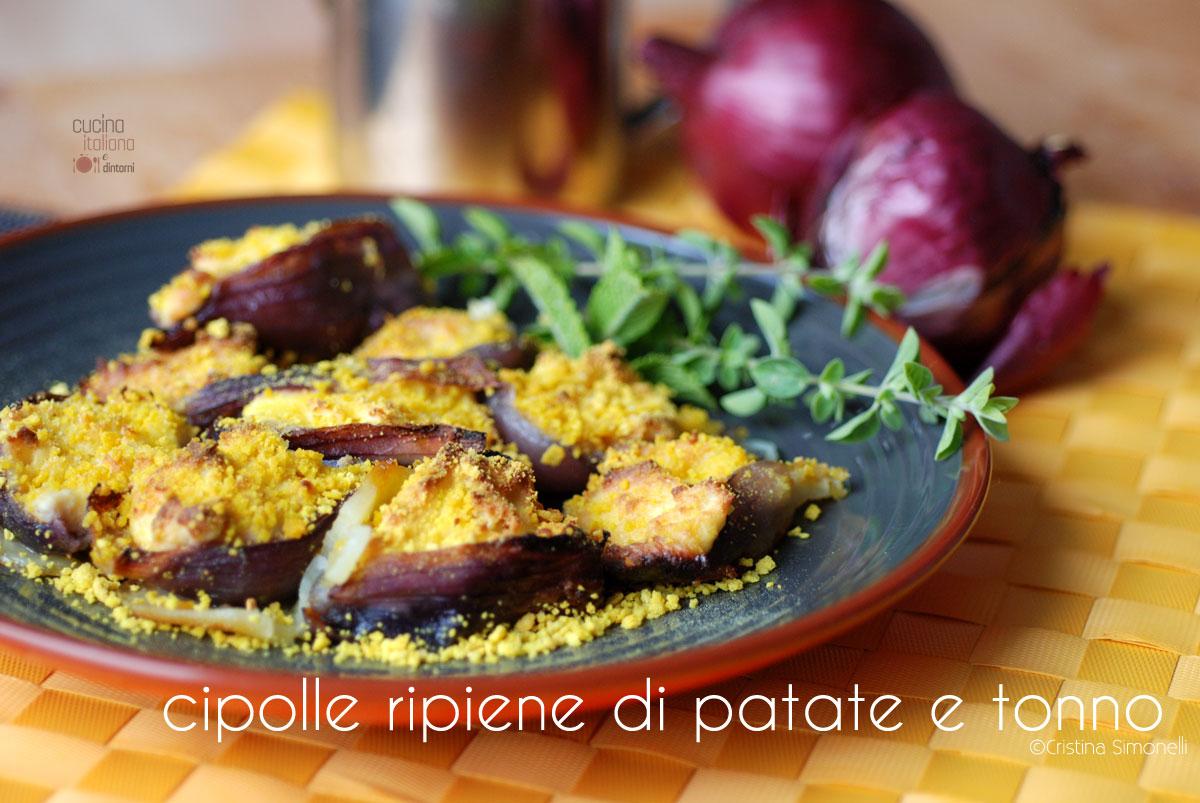 Cipolle ripiene di patate e tonno, ricetta facile