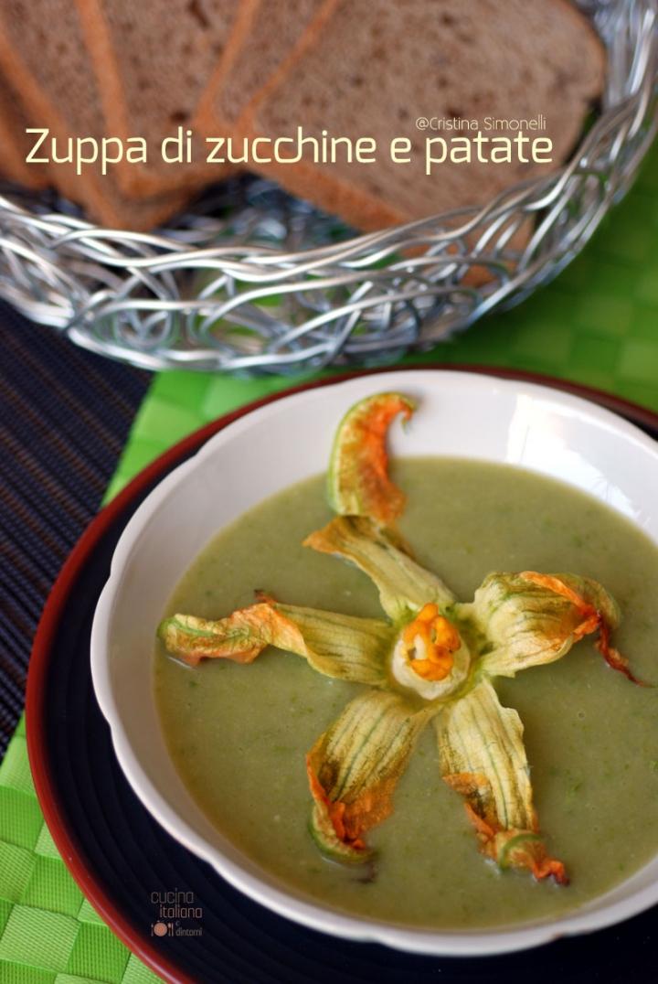 zuppa di zucchine e patate 1