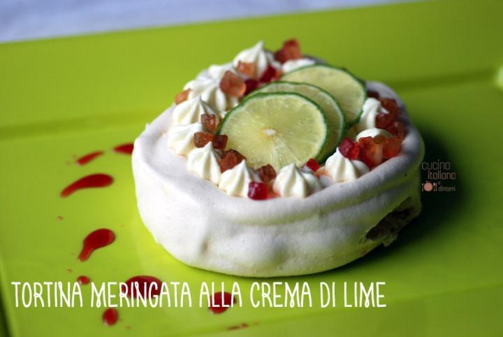 Tortina meringata alla crema di lime e canditi 1