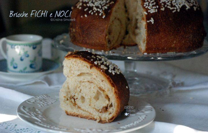 Torta Brioche con marmellata di fichi e noci