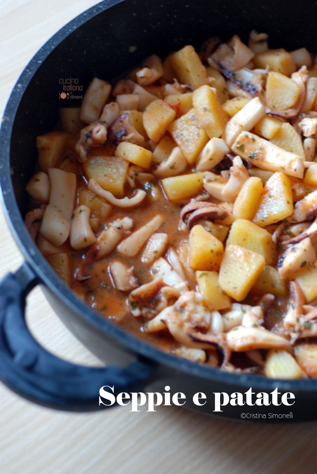 Seppie con patate ricetta facile e velocissima for Cucinare seppie