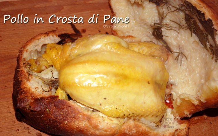 Pollo al forno in crosta di pane