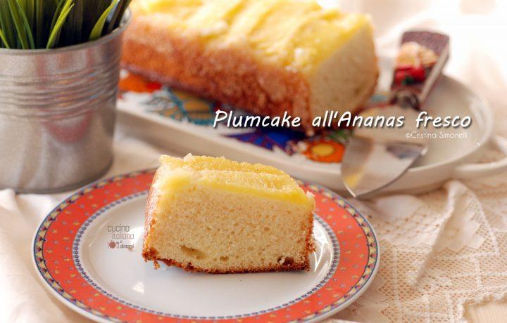Plumcake al cocco e ananas fresco
