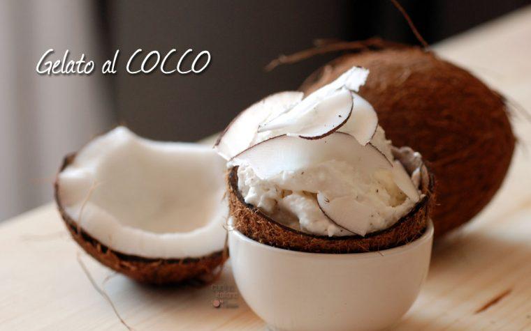 Gelato al cocco fresco