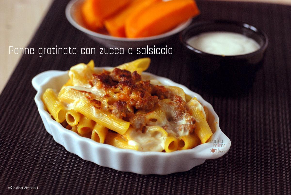 Penne gratinate zucca e salsiccia cucina italiana e dintorni for Sito cucina italiana