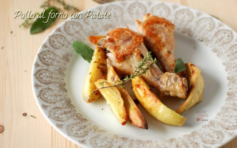 Fusi di pollo e patate al forno