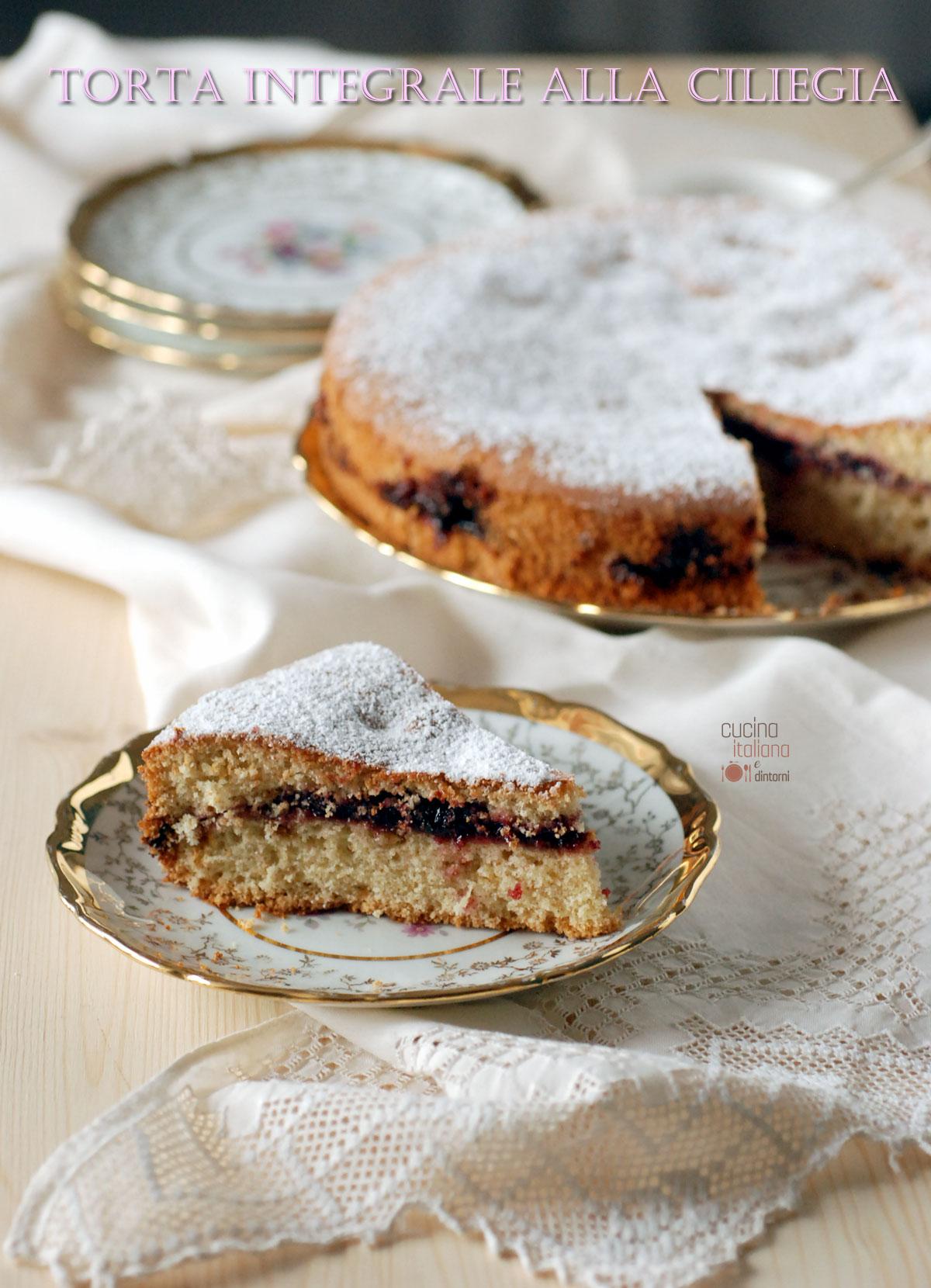 Torta integrale con ripieno alla ciliegia cucina for Sito cucina italiana