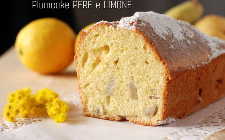 Plumcake pere e limone
