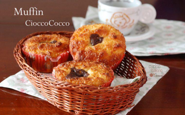 Muffin al cocco e cioccolato fondente