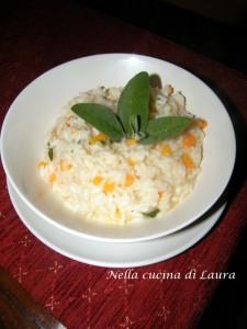 risotto carote e salvia - nella cucina di laura