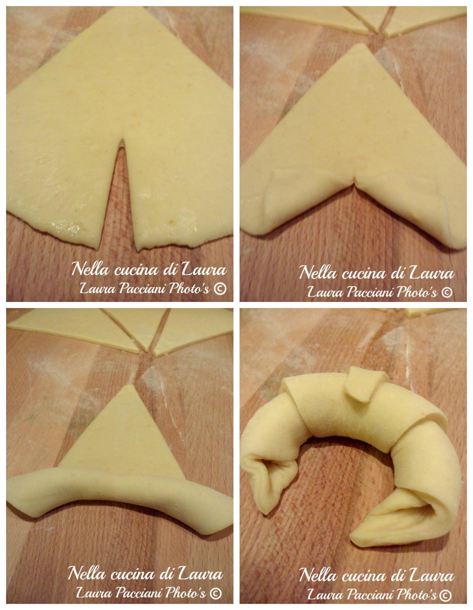 cornetti dolci di pan brioche con lievito madre - nella cucina di laura