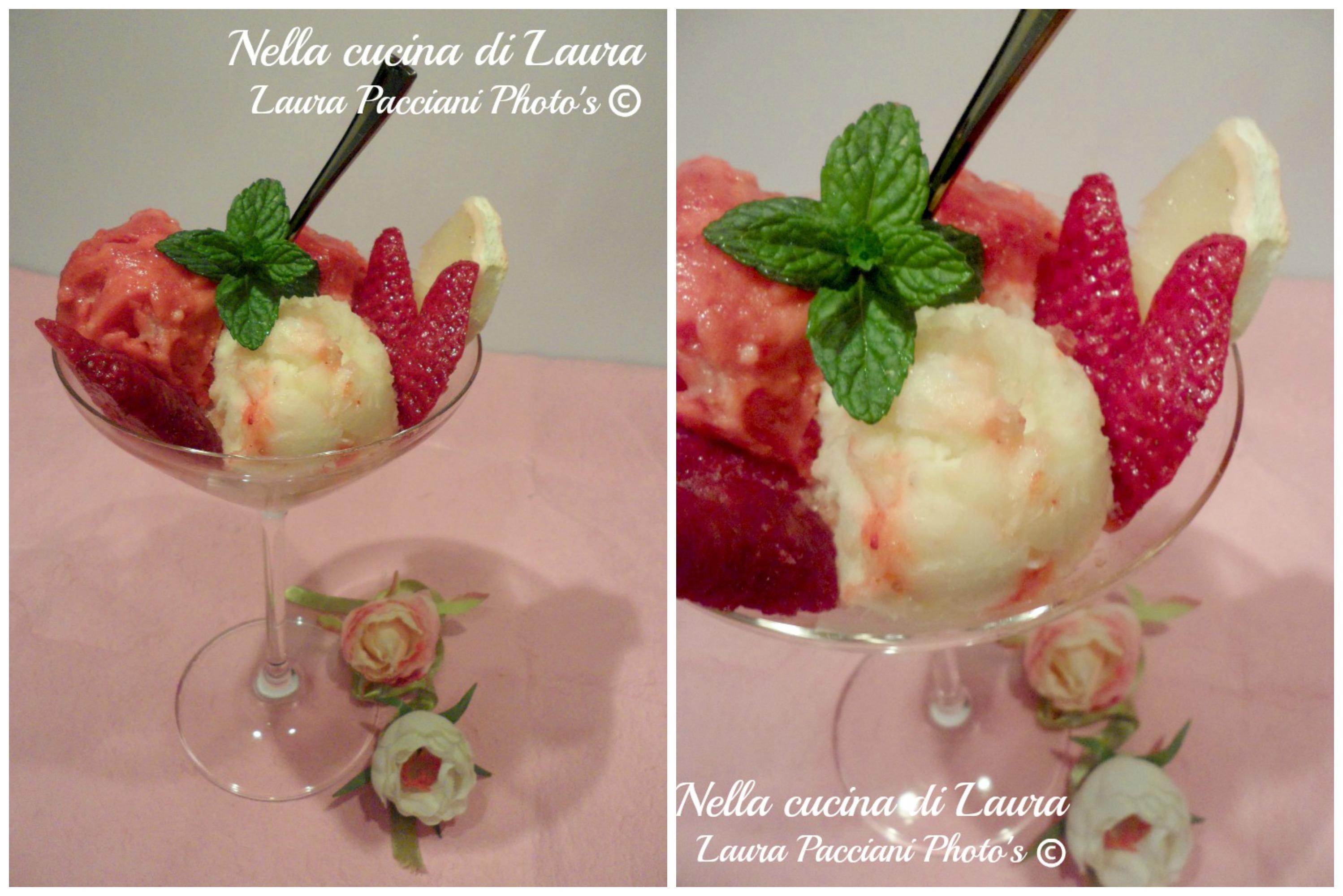 gelato light fragola e limone - nella cucina di laura