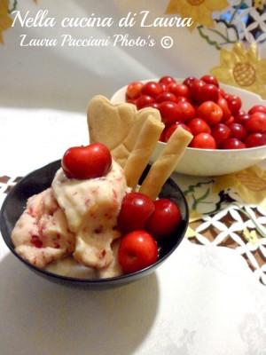 gelato ligth alla ciliegia e yogurt - nella cucina di laura
