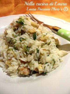riso basmati con zucchine e uova -  nella cucina di laura