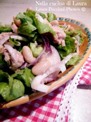insalata fagioli tonno e cipolla - nella cucina di laura