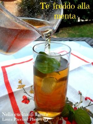 tè freddo alla menta - nella cucina di laura