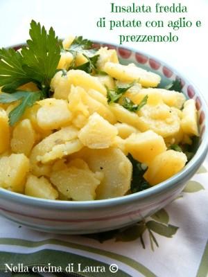 insalata fredda di patate con aglio e prezzemolo - nella cucina di laura