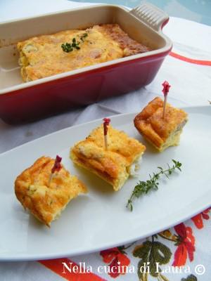 frittata al forno con funghi pancetta o scamorza - nella cucina di laura