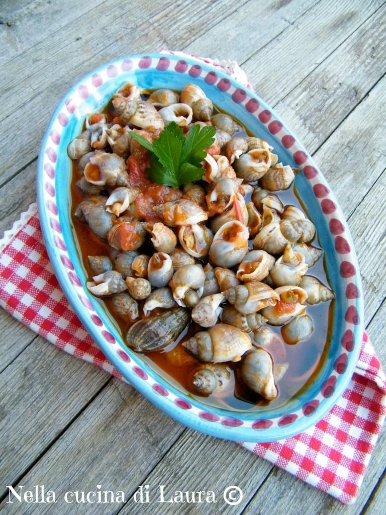 lumachine di mare in umido - nella cucina di laura