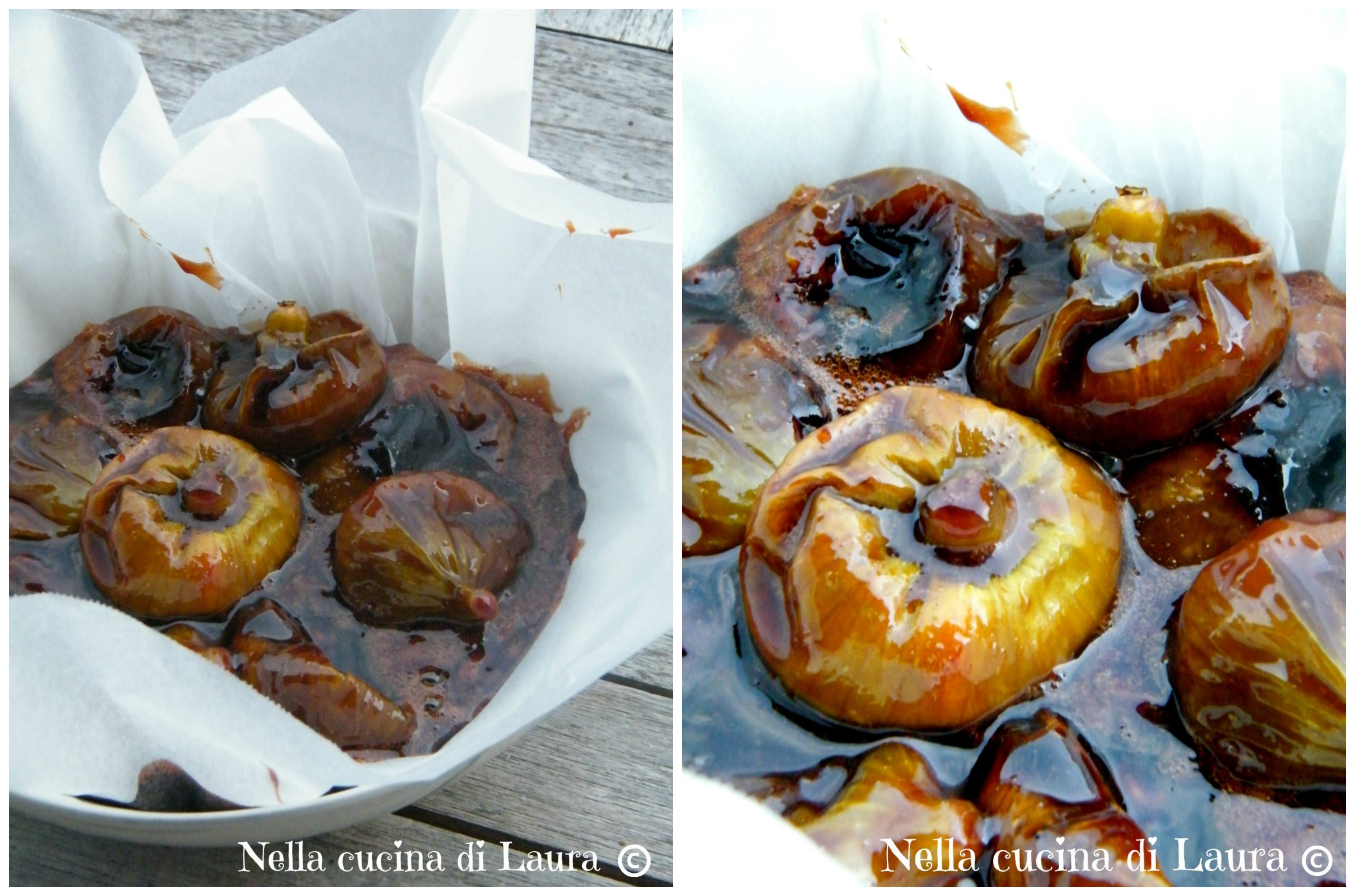 fichi caramellati con aceto e rum - nella cucina di laura
