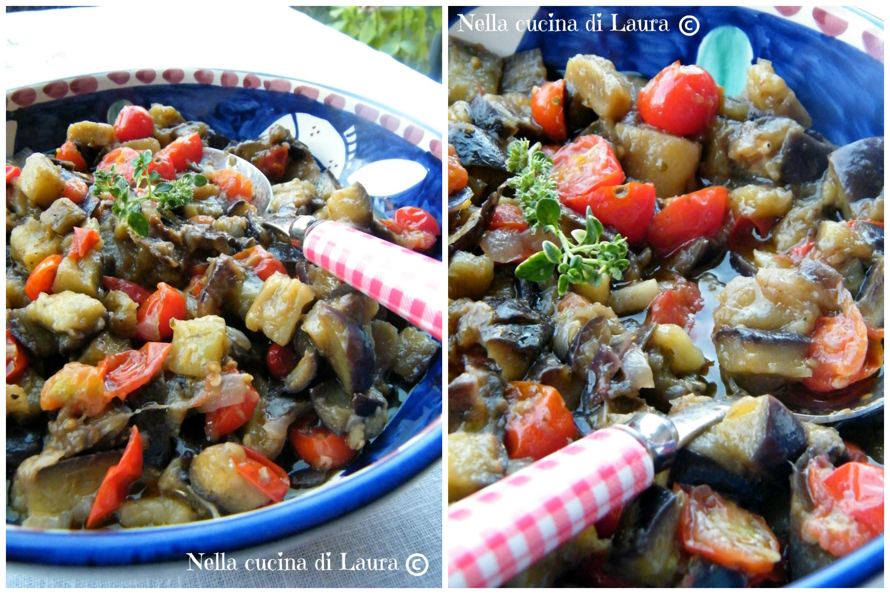 melanzane a funghetto - nella cucina di laura