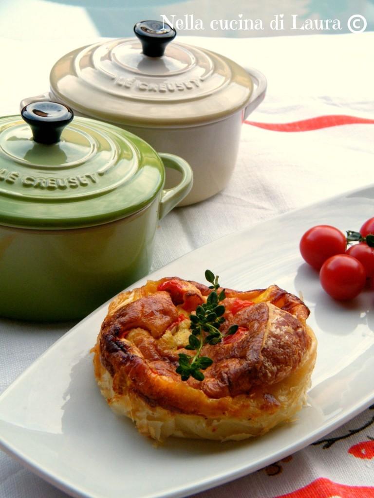 frittatine in cocotte con pomodorini e robiola - nella cucina di laura