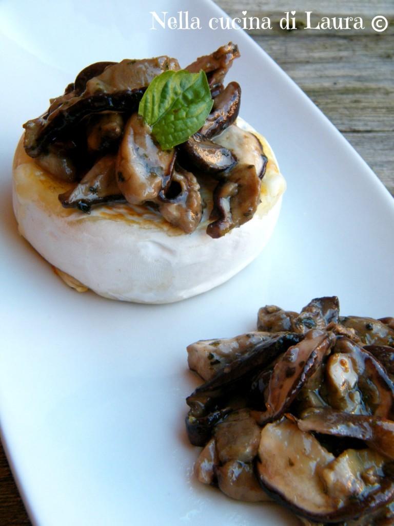 tomino piemontesino con funghi trifolati - nella cucina di laura