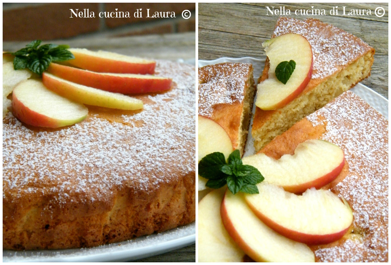 torta soffice alle mele all'olio extravergine di oliva - nella cucina di laura