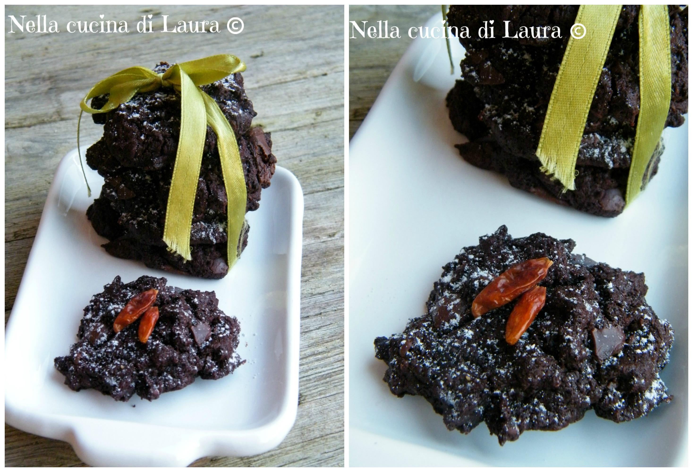 biscotti morbidi al cacao e peperoncino - nella cucina di laura