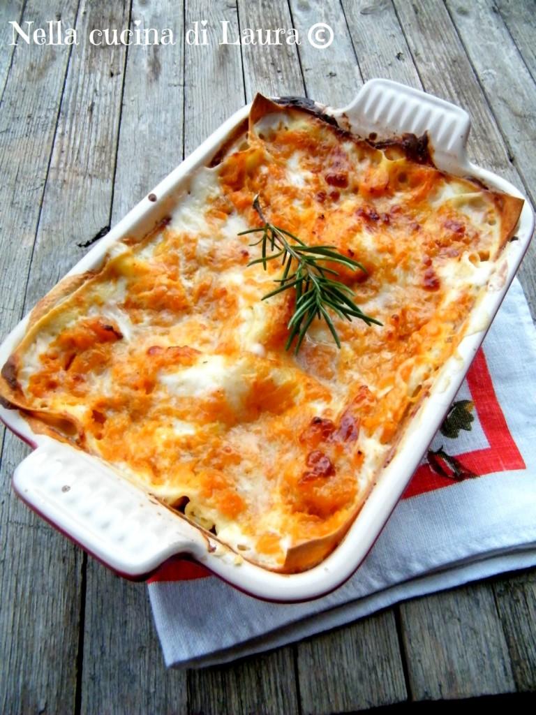 lasagne alla zucca - nella cucina di laura