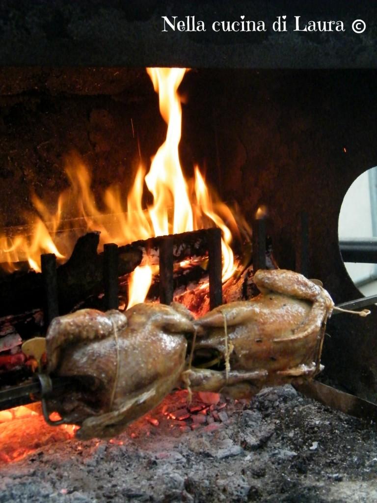 piccioni al girarrosto - nella cucina di laura