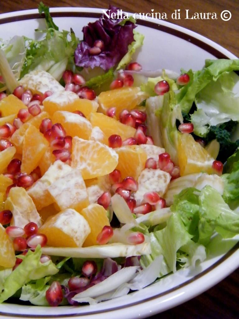 insalata mista con arance e melograno - nella cucina di laura