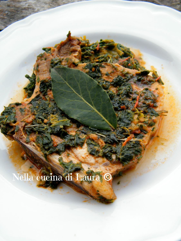 bistecche di maiale alla contadina con pulezze - nella cucina di laura